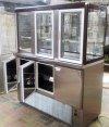 Холодильна шафа-вітрина з нержавіючої сталі
